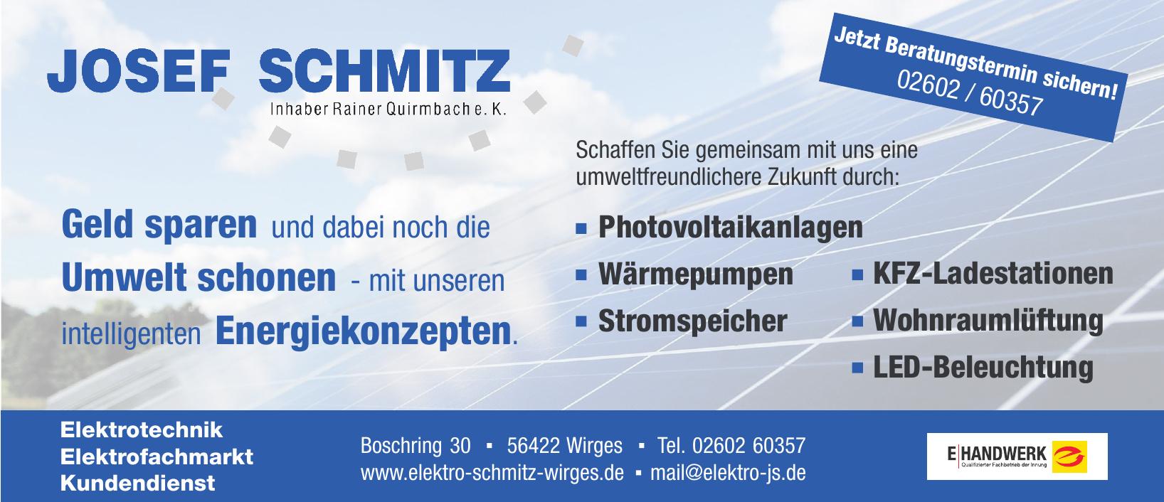 Josef Schmitz Inhaber Rainer Quirmbach e. K.