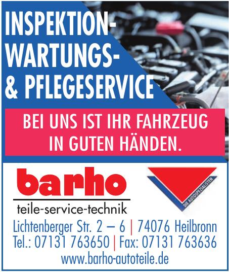 barho teile-service-technik