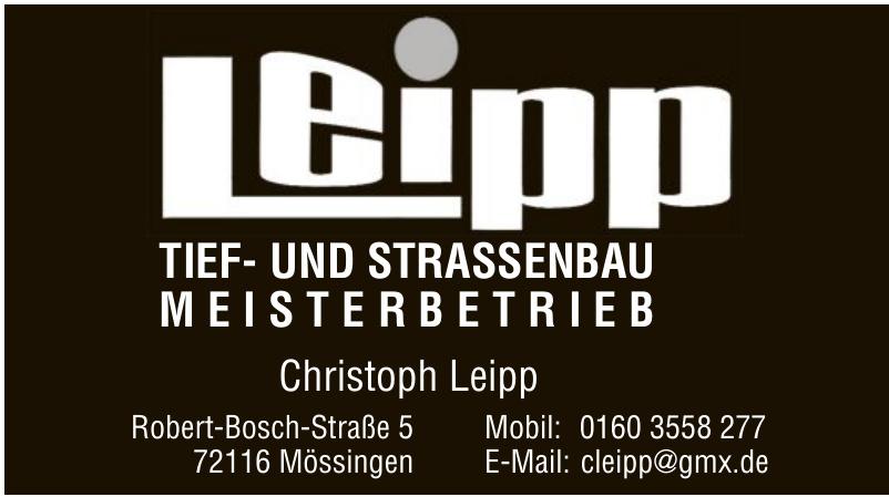 Leipp Tief- und Strassenbau Meisterbetrieb