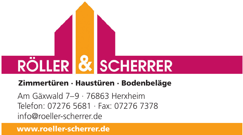 Röller & Scherrer Zimmertüren · Haustüren · Bodenbeläge