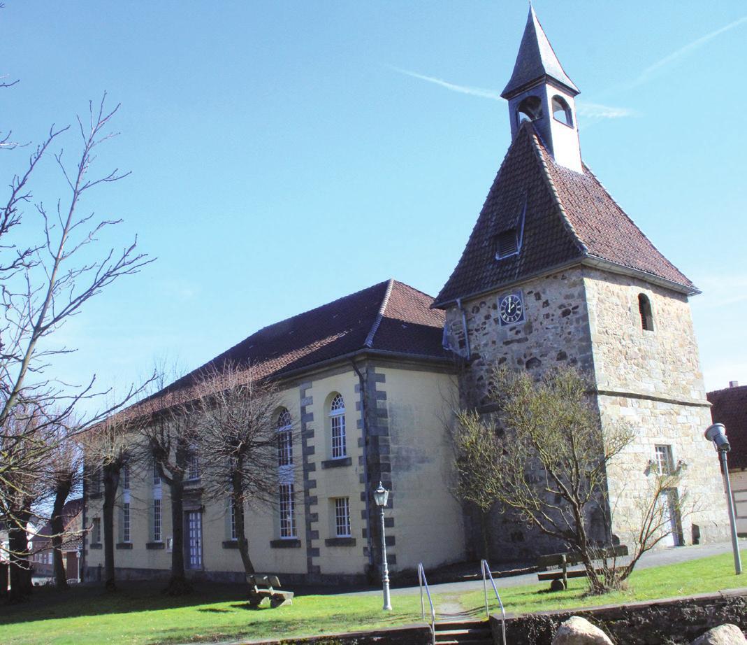 Blickfang: die Bakeder Kirche.