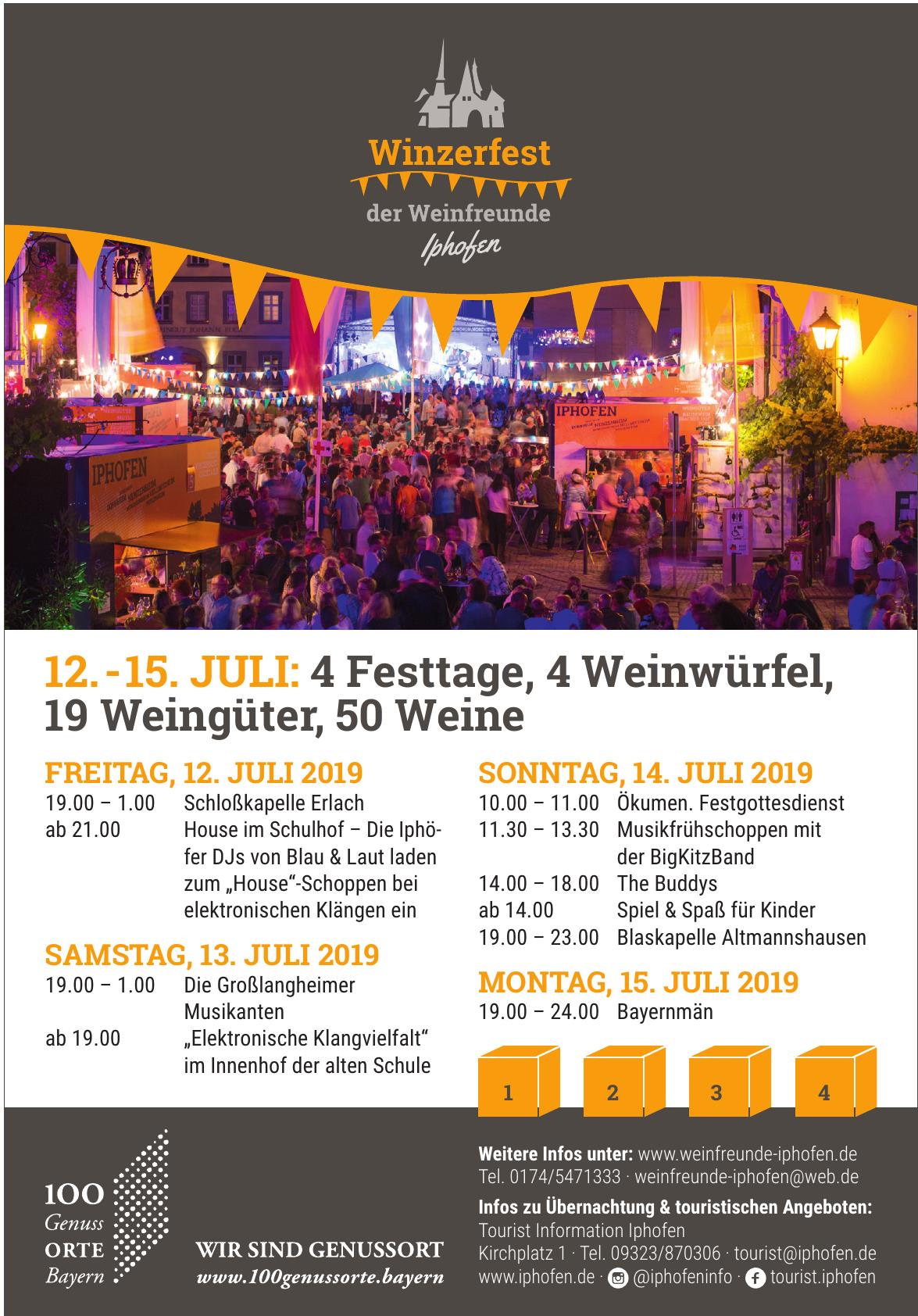 Winzerfest der Weinfreunde Iphofen