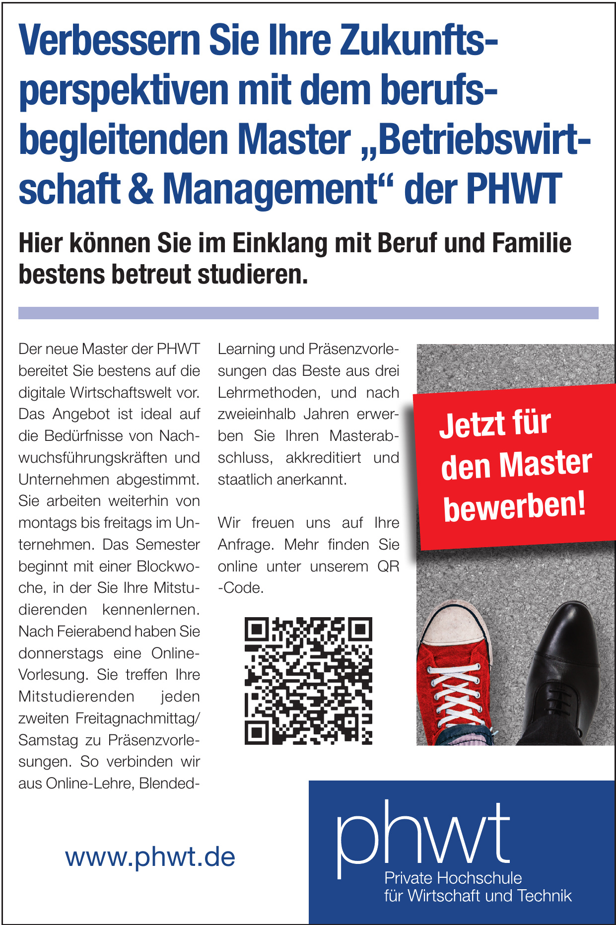 phwt - Private Hochschule für Wirtschaft und Technik gGmbH