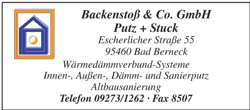 Backenstoß & Co. GmbH Putz + Stuck