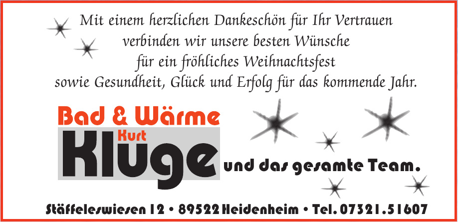Bad & Wärme Kluge