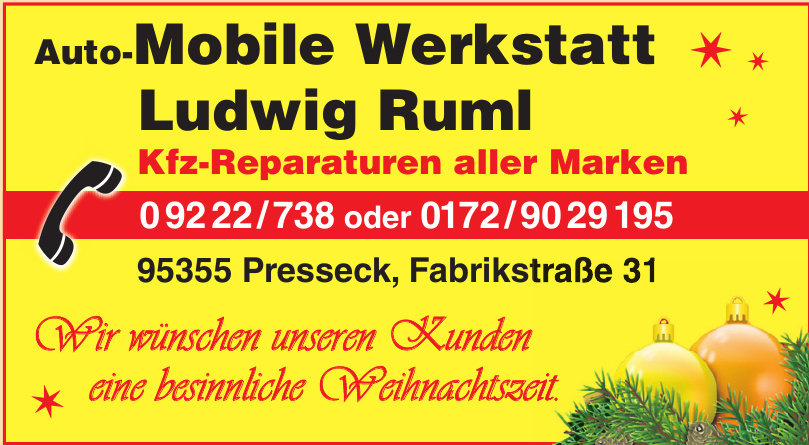 Auto-Mobile Werkstatt Ludwig Ruml