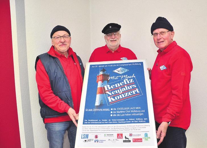 Der Maritime Chor Wolfsburg lädt am 20 Januar zum Benefizkonzert ein.