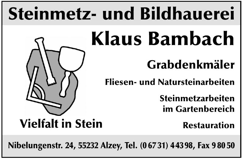 Steinmetz- und Bildhauerei Klaus Bambach
