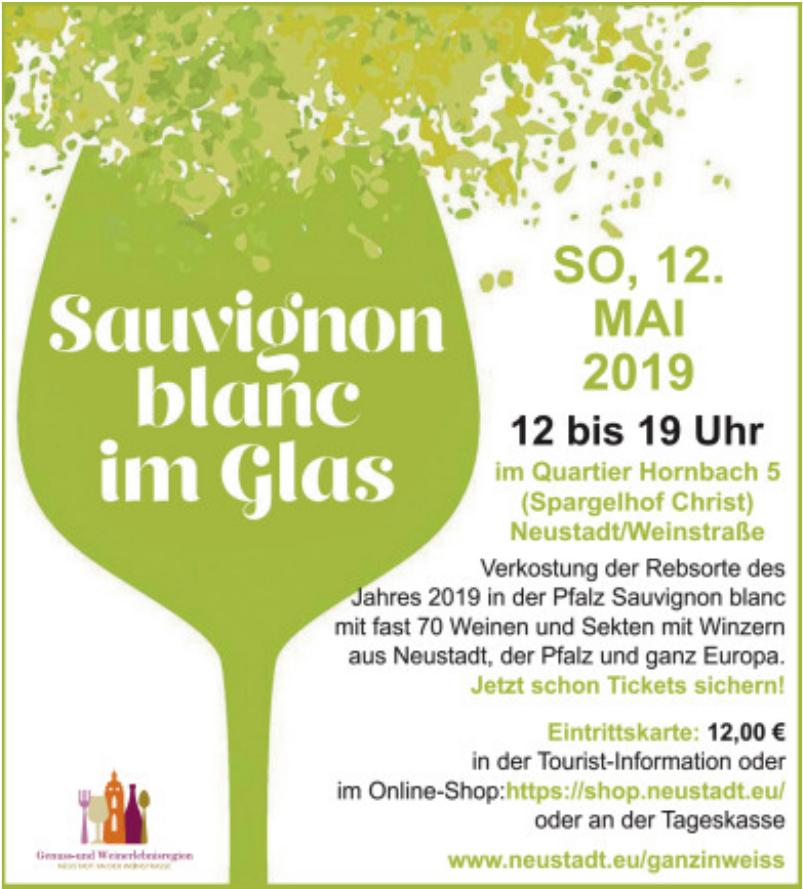 Neustadt Sauvignon blanc im Glas