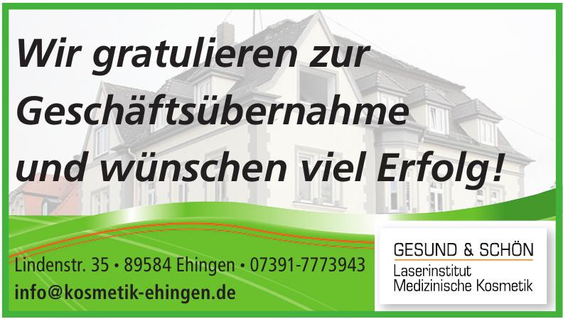 Gesund & Schön - Laserinstitut Medizinische Kosmetik
