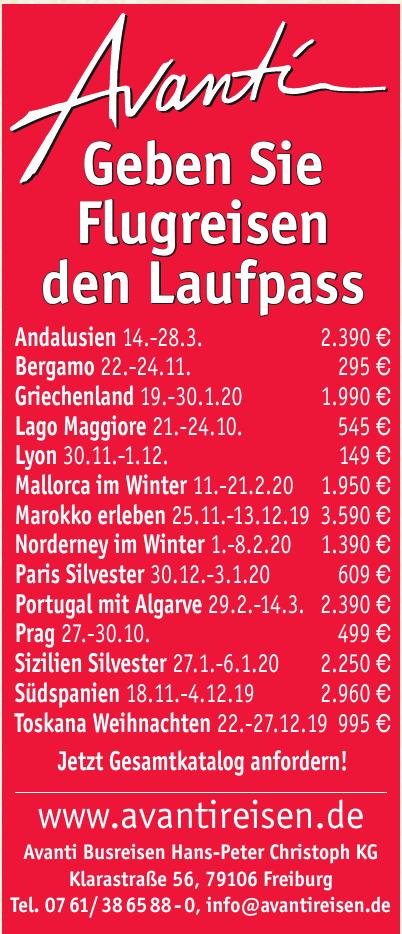 Avanti Busreisen Hans-Peter Christoph KG