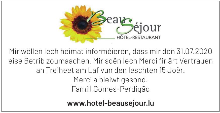 Hotel-Restaurant Beau-Séjou