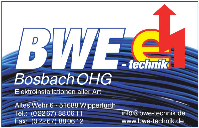 BWE-technik Bosbach & Wirt OHG
