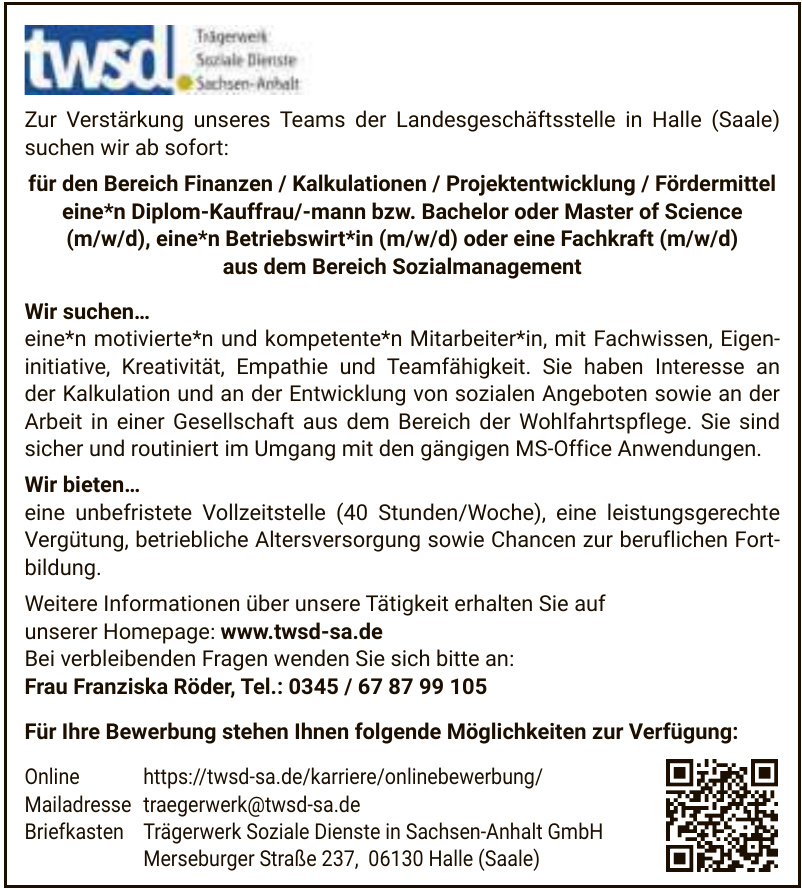 Trägerwerk Soziale Dienste in Sachsen-Anhalt GmbH