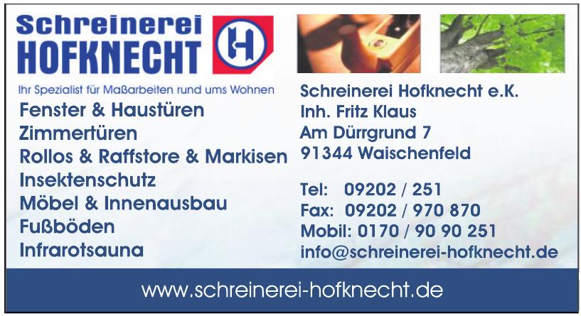 Schreinerei Hofknecht e.K.
