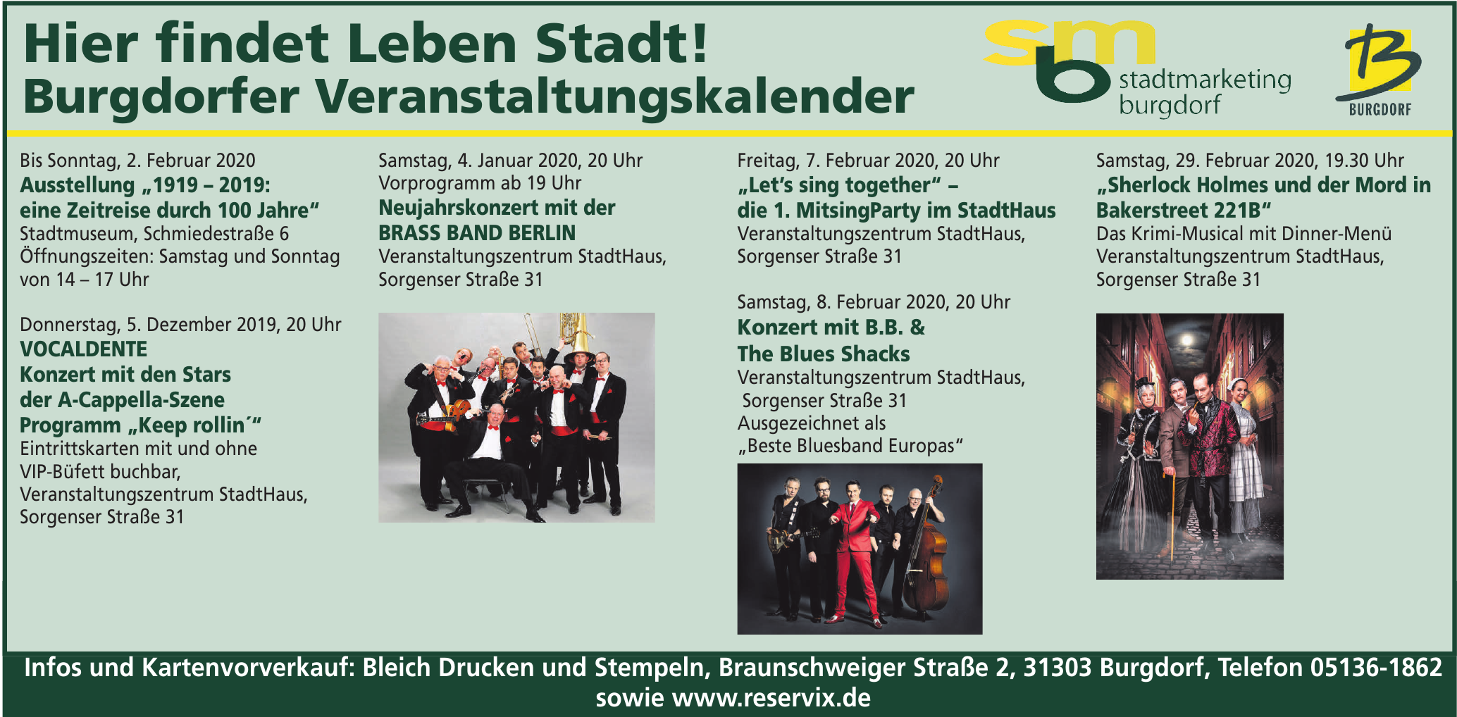 Stadtmarketing Burgdorf - Burgdorfer Veranstaltungskalender