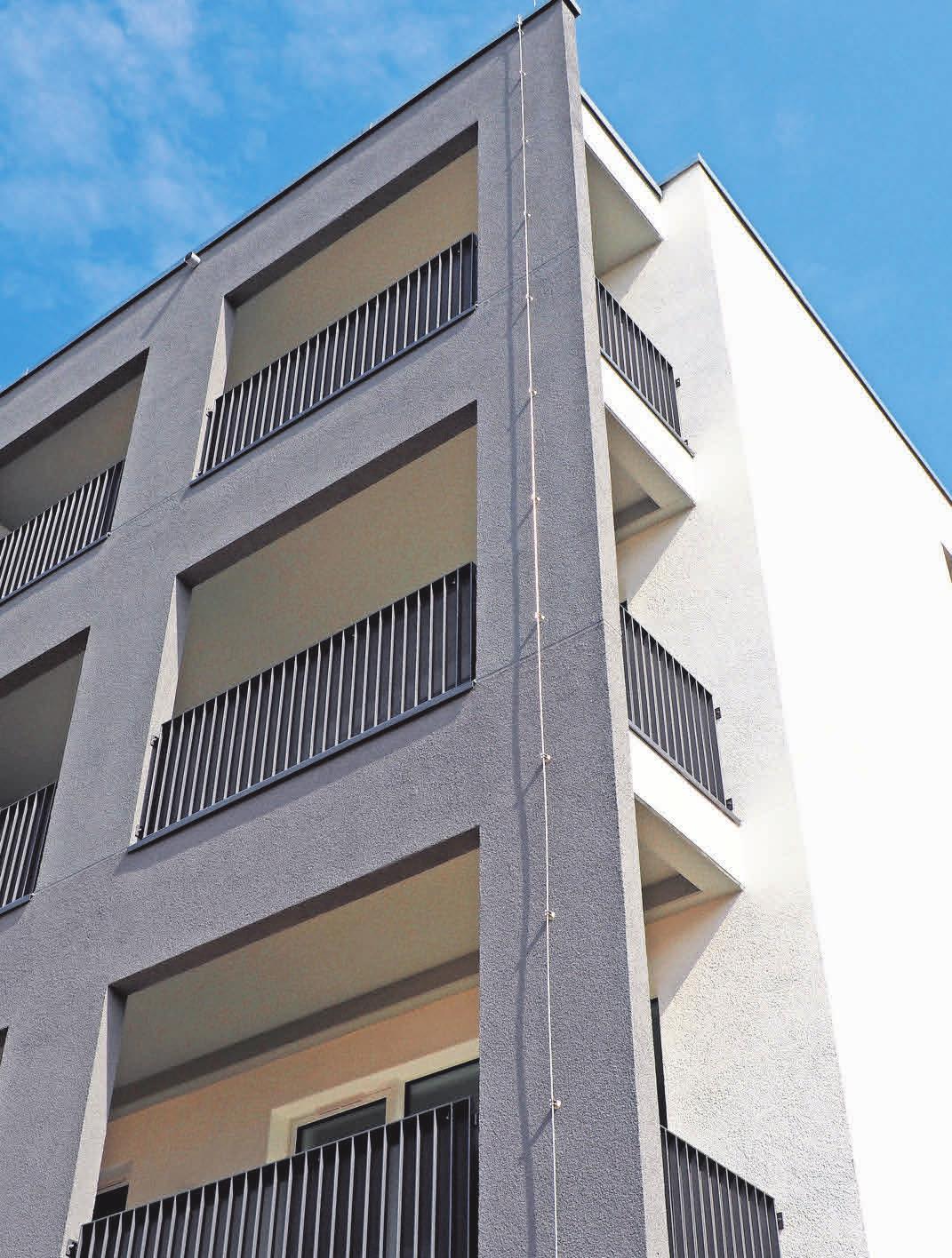 Die Wohnungen verfügen über große Balkone.