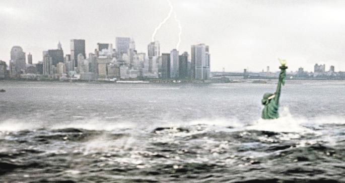 """Filmausschnitt aus """"The Day After Tomorrow"""" – im Kino ist die Zukunft meistens eine Katastrophe. FOTO: IMAGO/PROD.DB"""