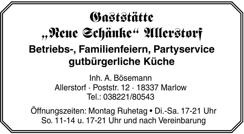 """Gaststätte """"Neue Schänke"""" Allerstorf"""