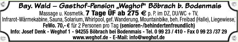 Weghof - Gasthof - Pension