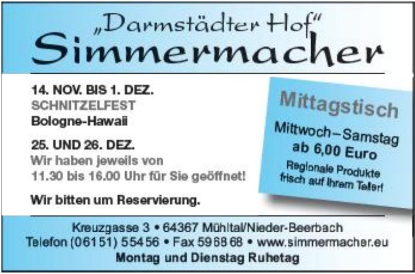 """""""Darmstädter Hof"""" Simmermacher"""