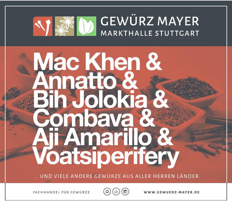 Gewürz Mayer Markthalle Stuttgart