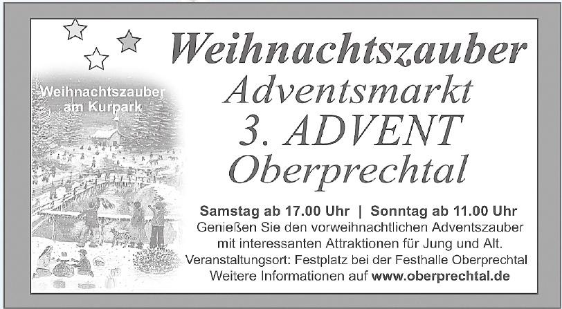 3. Advent Oberprechtal Weihnachtszauber