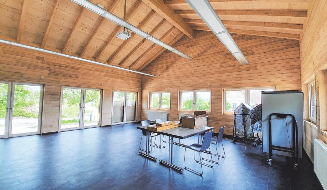 In dem neuen Seminarraum finden nun bis zu 70 Personen Platz.