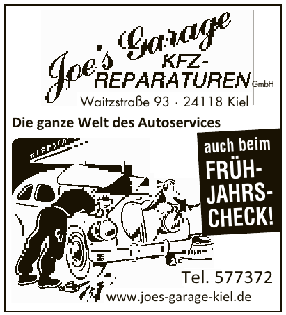 Joe´s Garage KFZ-Reparaturen GmbH