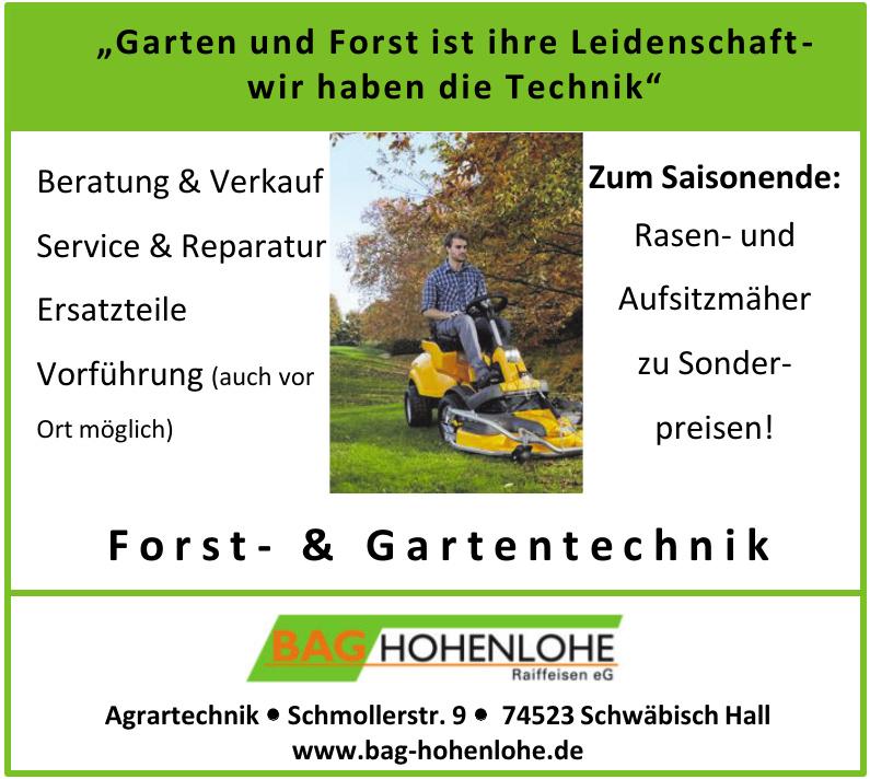 Bag Hohenlohe Raiffeisen eG