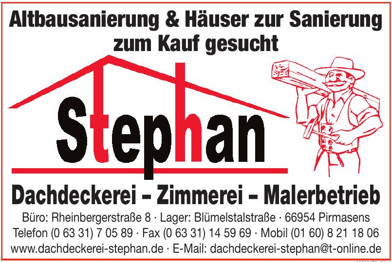 Stephan Dachdeckerei – Zimmerei – Malerbetrieb