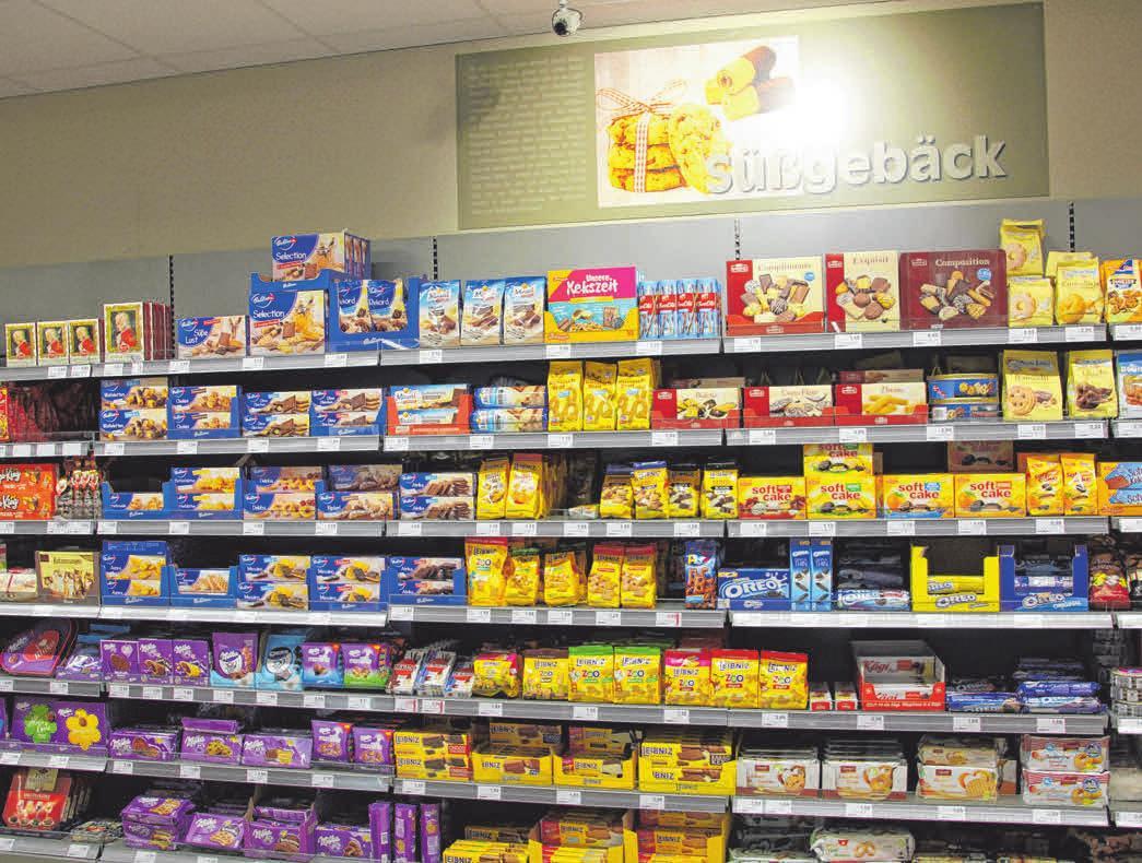 In der Abteilung Süßgebäck gibt es verschiedene feine Kekse. FOTO: CHRISTINE MARTIN