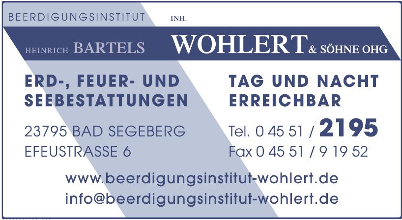 Beerdigungsinstitut Bartels Inh. Wohlert & Söhne OHG