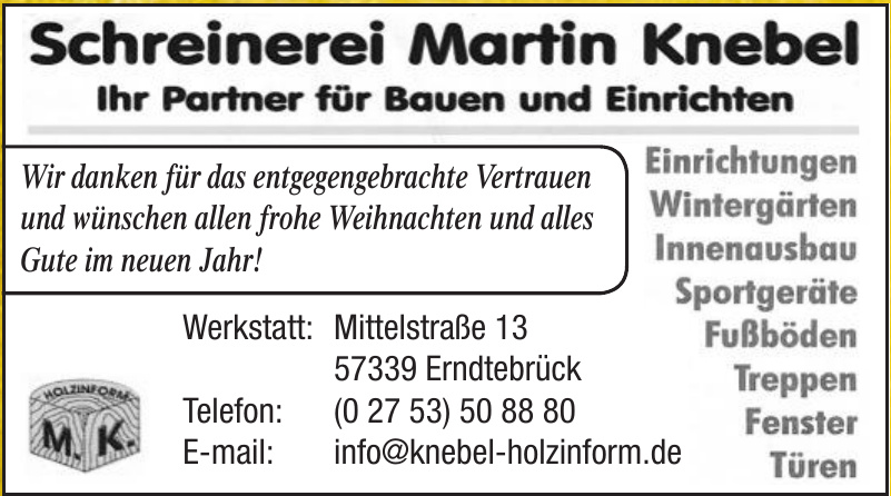 Schreinerei Martin Knebel