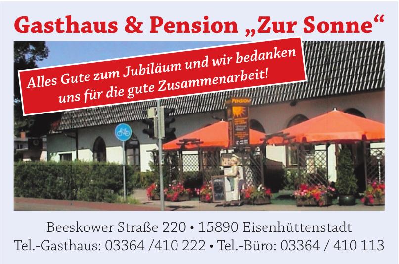 """Gasthaus & Pension """"Zur Sonne"""""""