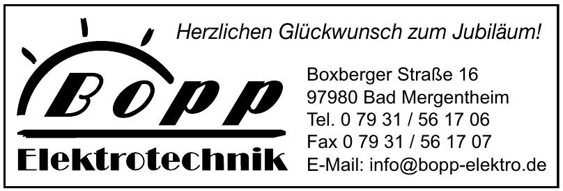 Bopp Elektrotechnik