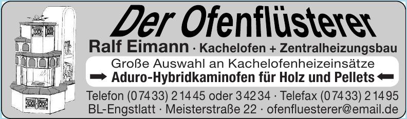 Der Ofenflüsterer Ralf Eimann