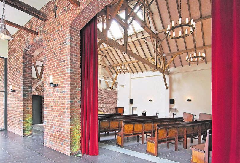 Den angemessenen Rahmen für die Trauerzeremonie bilden in Willich mehrere unterschiedlich große Hallen.