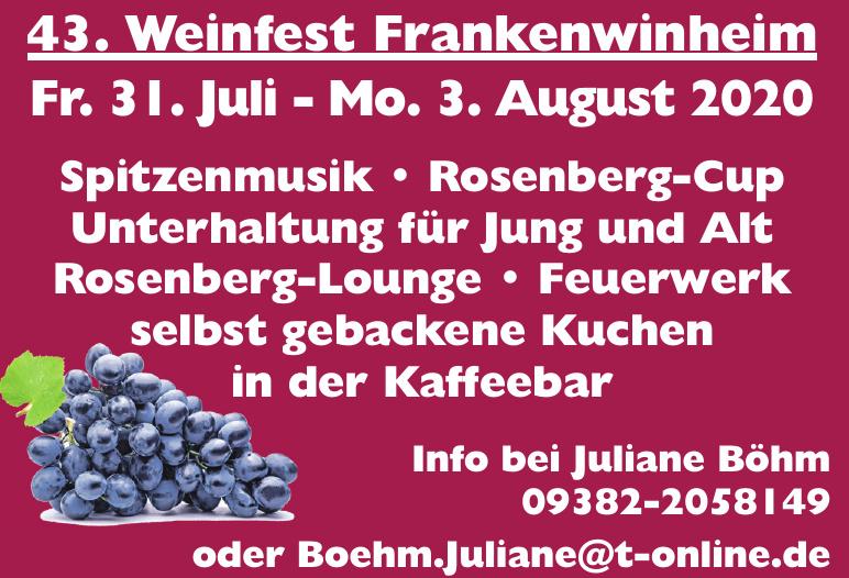 43. Weinfest Frankenwinheim