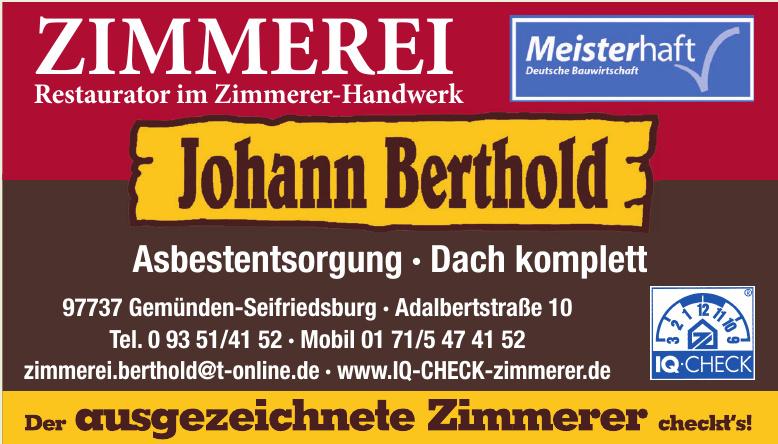 Johann Berthold - Iq-Check-zimmerer