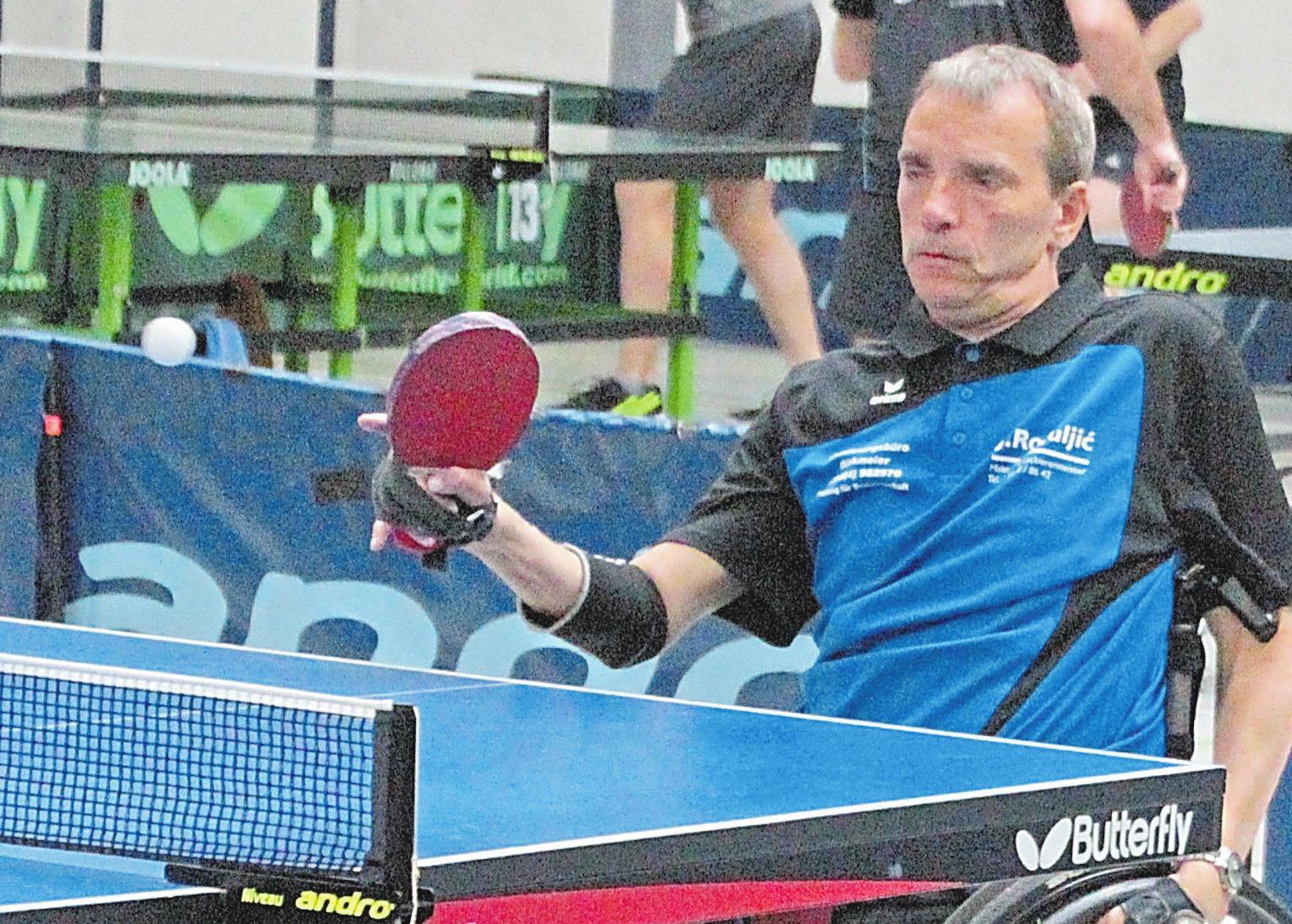 Thorsten Grünkemeyer belegt Rang 2 bei der Sportlerwahl 2019. Auf die Teilnahme am Foto-Termin hat der Tischtennis-Spieler verzichtet. Foto: Uwe Wolter