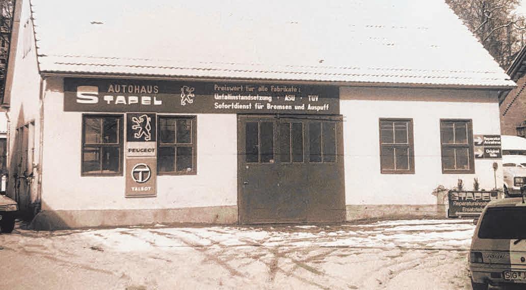 Von 1984 bis 1996 befand sich die Werkstatt des Autohauses Stapel im Steinbruch. FOTO: PRIVAT