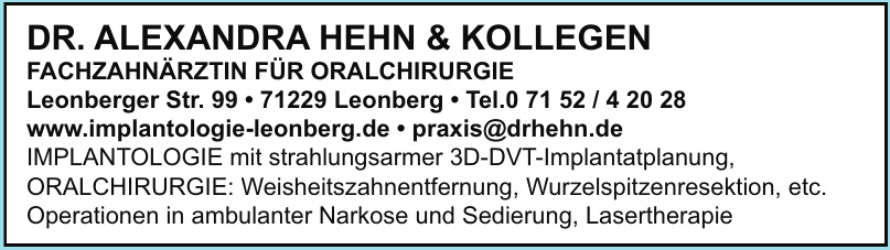 Dr. Alexandra Hehn & Kollegen
