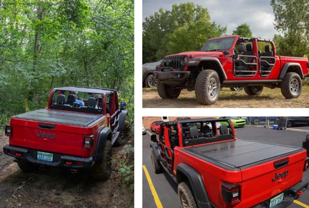 Verbrauchsangaben: Jeep Gladiator Rubicon Mopar 3,6 l Verbrauch EU-Drittelmix (l/100 km): 12,3 CO2-Ausstoß (g/km): 293