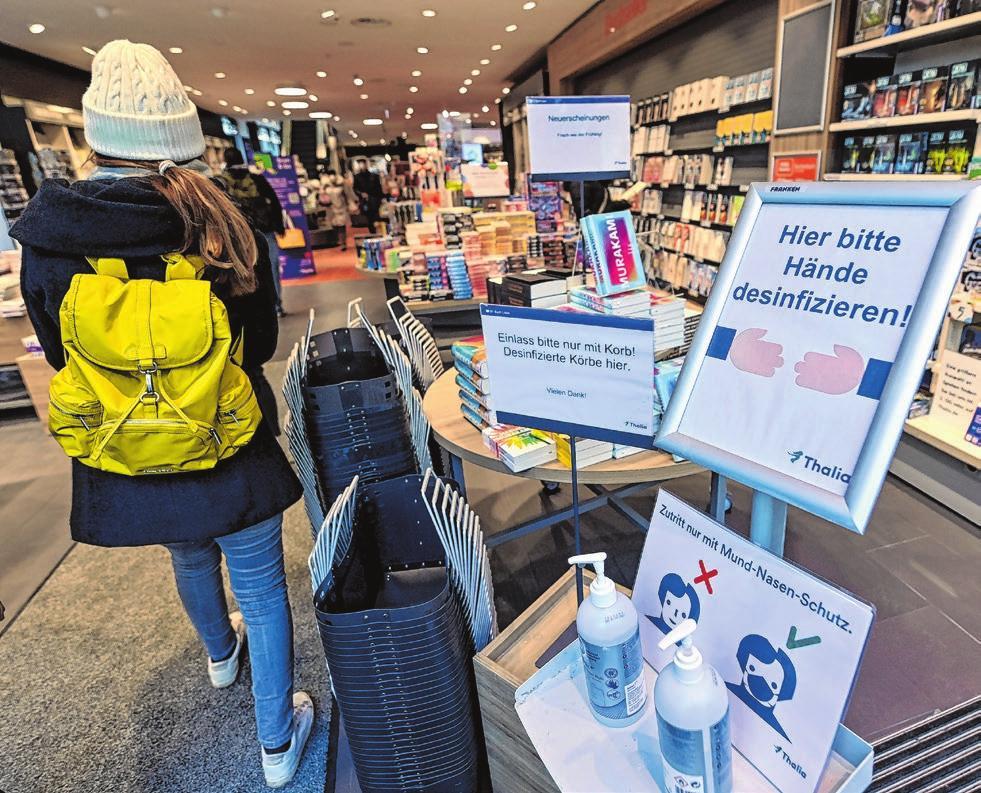 Seit 8. März haben auch Buchhandlungen wieder geöffnet – unter Einhaltung der Hygieneauflagen für den Einzelhandel.