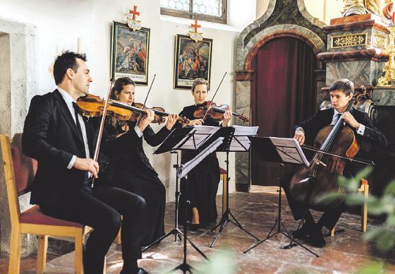 Das Prima Streichquartett bringt die Kirche St. Marien zum Erklingen