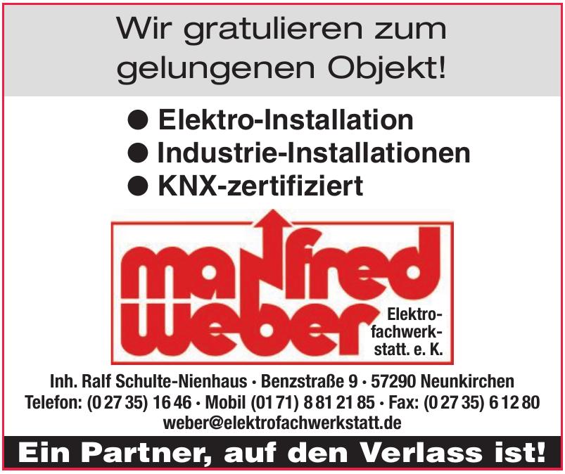 Manfred Weber Elektrofachwerkstatt. e. K.