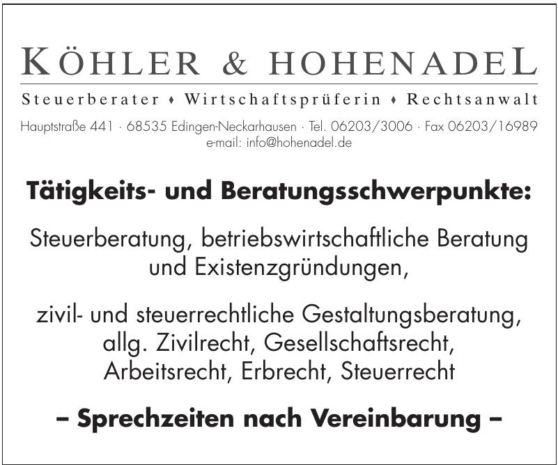 Köhler & Hohenadel