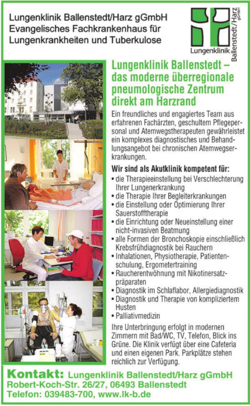 Lungenklinik Ballenstedt/Harz gGmbH