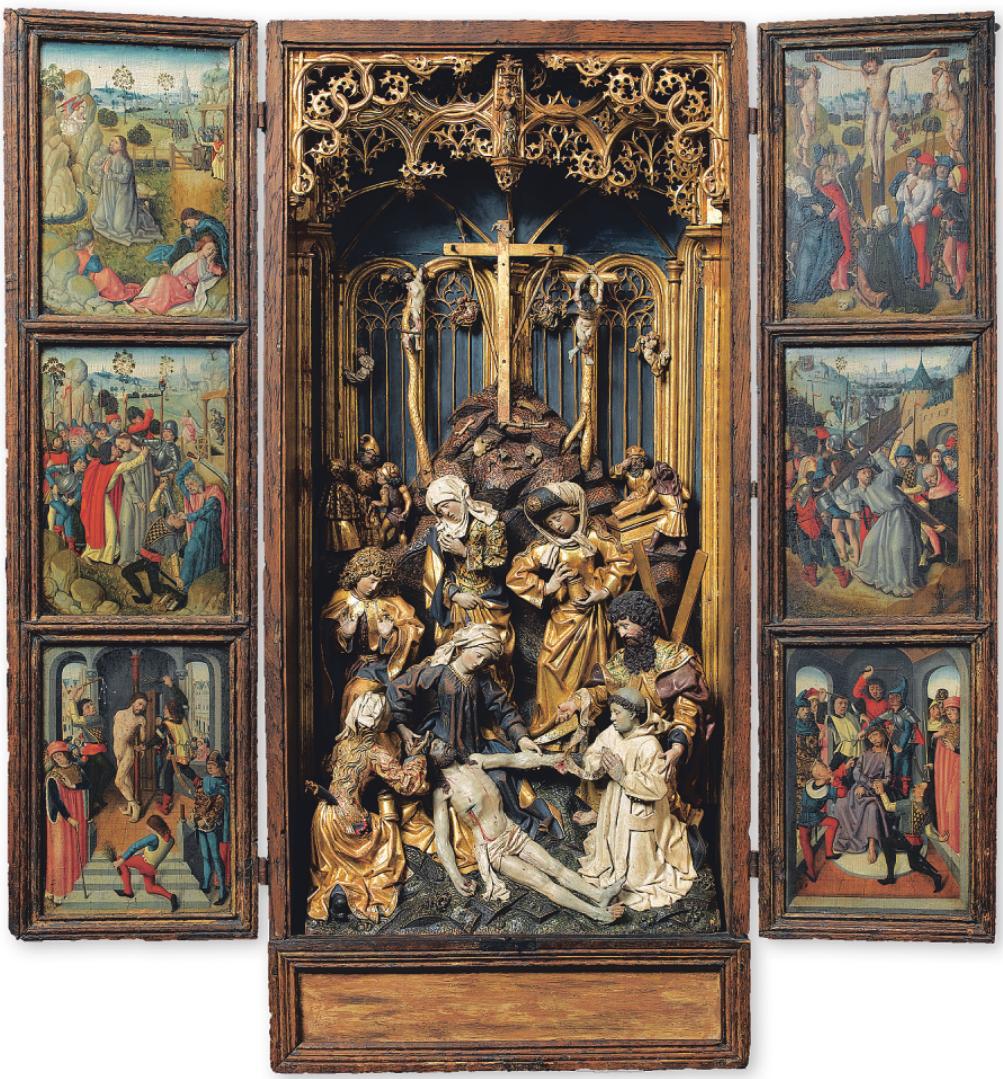 Einen Hausaltar mit einer emotionsreichen Beweinung Christi konnte das Kölner Museum aus Paris ausleihen Bild: bpk/RMN – Grand Palais/Jean-Gilles Berizzi
